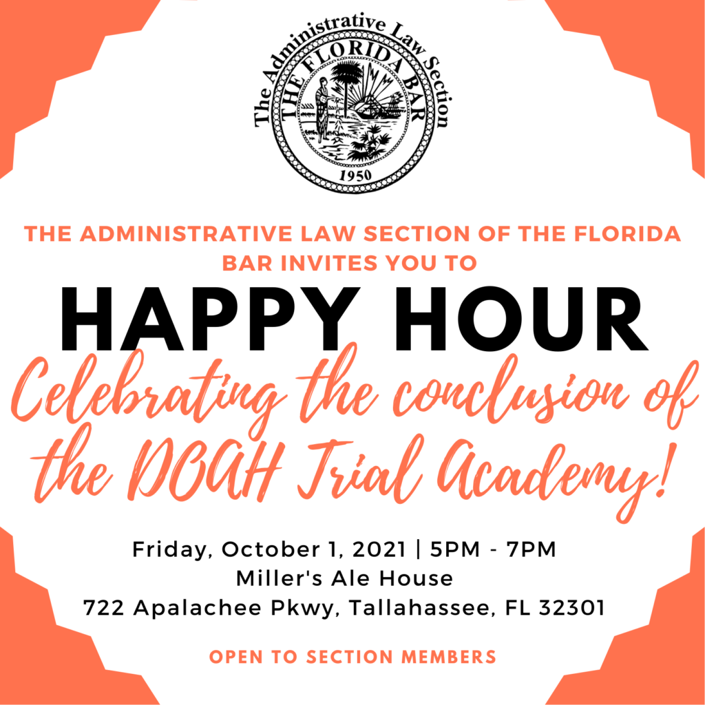 Information on how to apply to DOAH Trial Academy